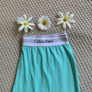 Calvin Klein Mint Green Cotton Loungewear Pants